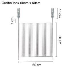 Grelha Inox 60cmx60cm