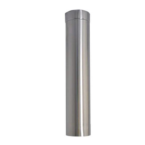 Chaminé metálica Inox escovada 450x1000mm