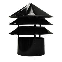 Chapéu aletado pintado Ø 450mm