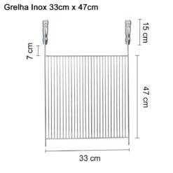 Grelha inox 33x47